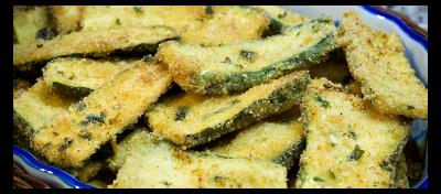Bastones crujientes de zapallo italiano y parmesano