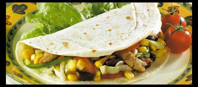 Panini de toritllas con verduras salteadas